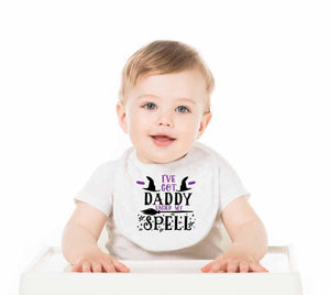 I've Got Daddy Under My Spell Baby Bib - Potter's Printing