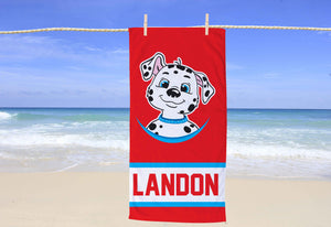 Dalmatian Personalized Beach Towel - Potter's Printing