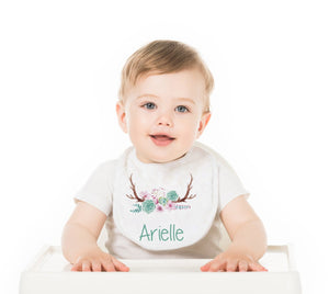 Doe  Personalized Baby Bib - Potter's Printing