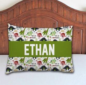 Dinosaur Boy Personalized Pillowcase - Potter's Printing