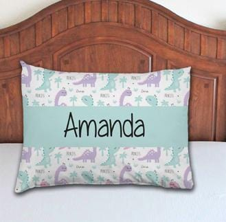 Dinosaur Girl Personalized Pillowcase - Potter's Printing