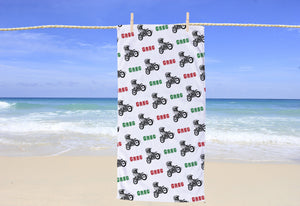 Dirtbike Personalized Beach Towel - Potter's Printing