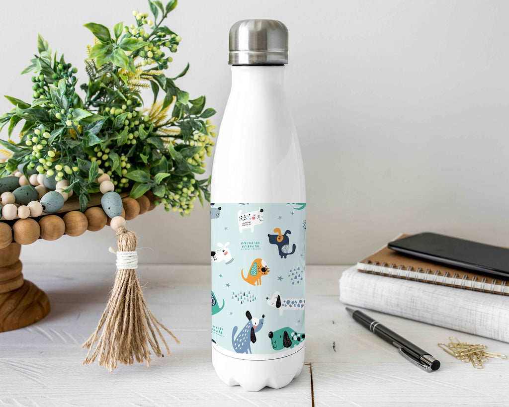 Dogs Stainless Steel Water Bottle