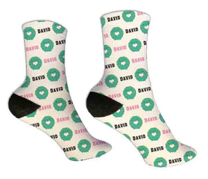 Donut Personalized Socks - Potter's Printing