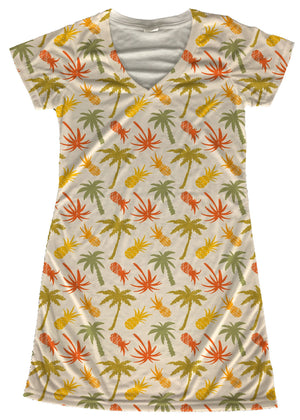 Pineapples and Palm Trees Dress - Potter's Printing