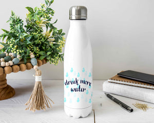 Drink More Water Stainless Steel Water Bottle