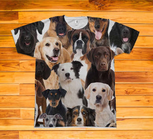 Dogs Short Sleeve TEE Shirt - Potter's Printing