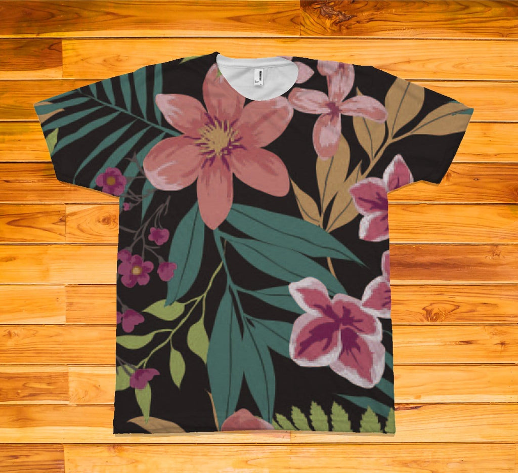 Hawaiin Short Sleeve TEE Shirt - Potter's Printing