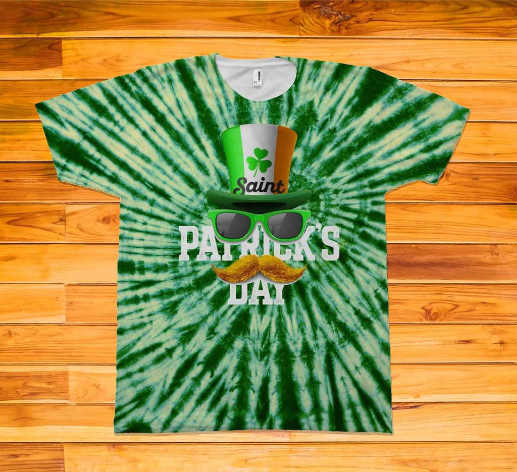 Tie Dye St. Patrick's Day Short Sleeve TEE Shirt - Potter's Printing