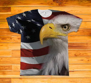 American Eagle Short Sleeve TEE Shirt - Potter's Printing