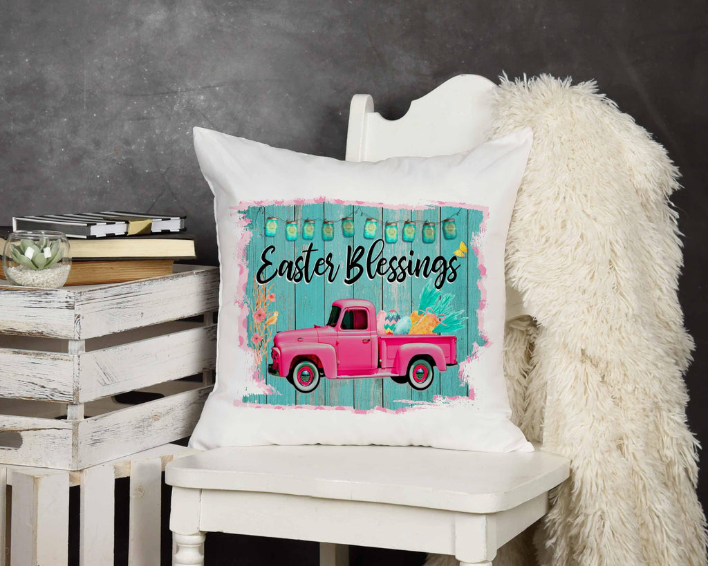 Easter Blessings Throw Pillow - Potter's Printing