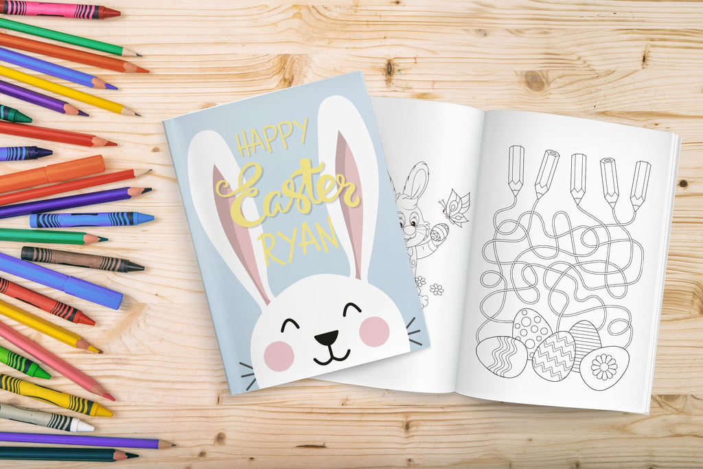 Personalized Boy Easter Coloring Book