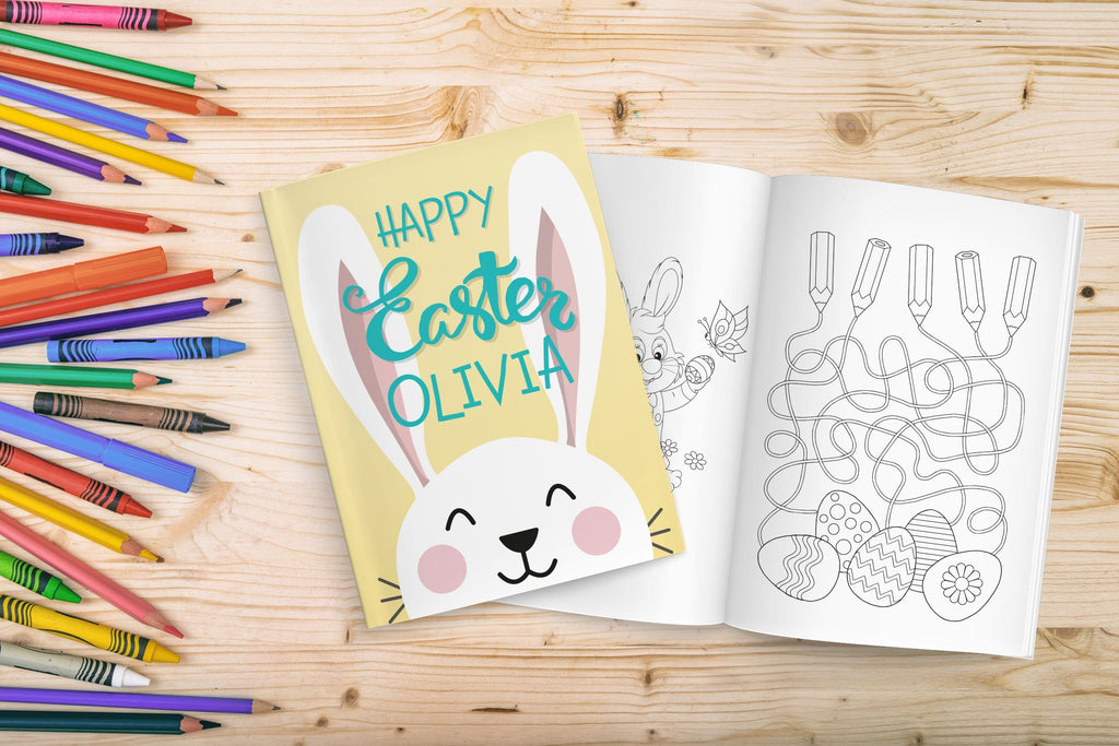 Personalized Girl Easter Coloring Book