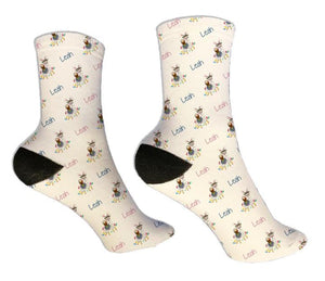 Llama Personalized Easter Socks - Potter's Printing