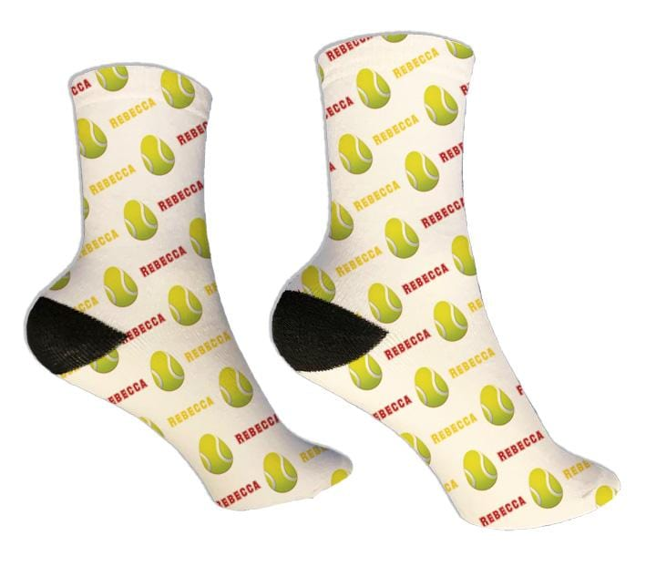 Tennis Personalized Easter Socks - Potter's Printing