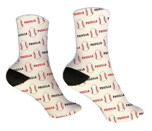 Baseball Personalized Easter Socks - Potter's Printing