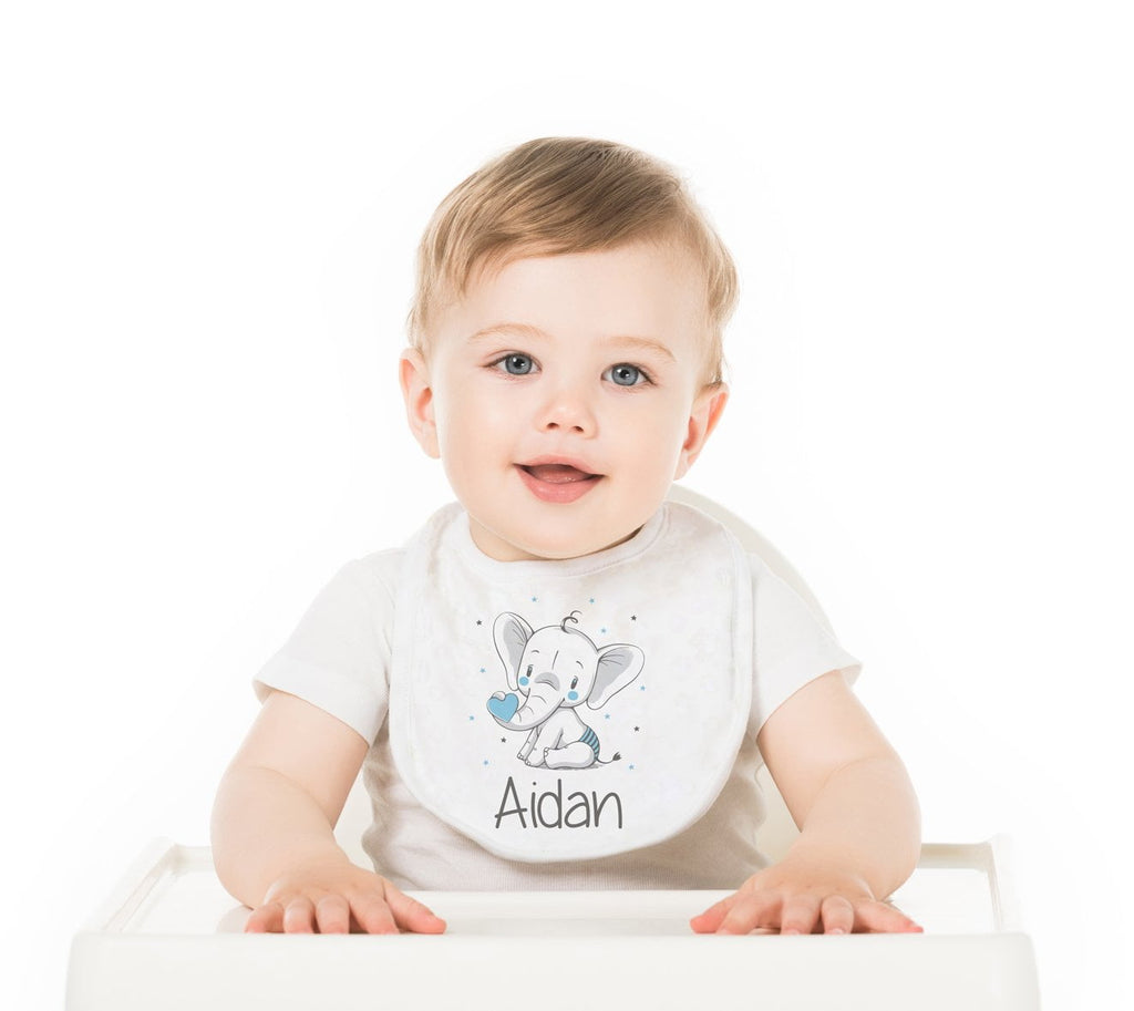 Elephant Personalized Baby Bib - Potter's Printing