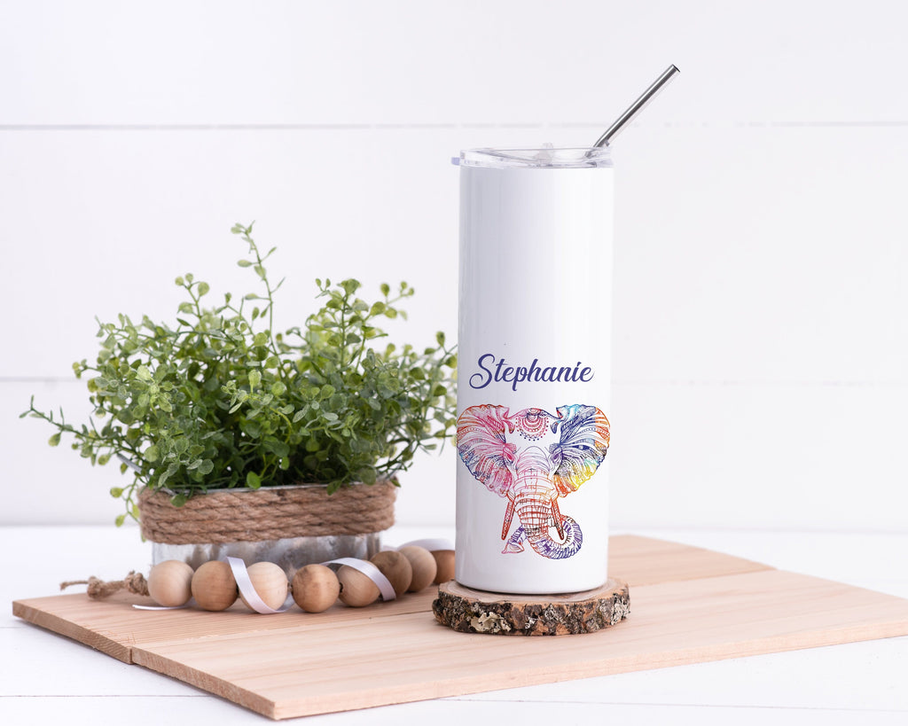 Elephant Personalized Stainless Steel Tumbler