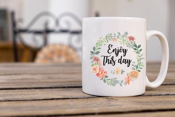 Enjoy This Day Coffee Mug - Potter's Printing