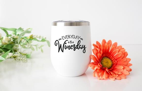 Everyday is Winesday Wine Tumbler - Potter's Printing