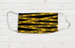 Caution Tape Face Mask - Potter's Printing