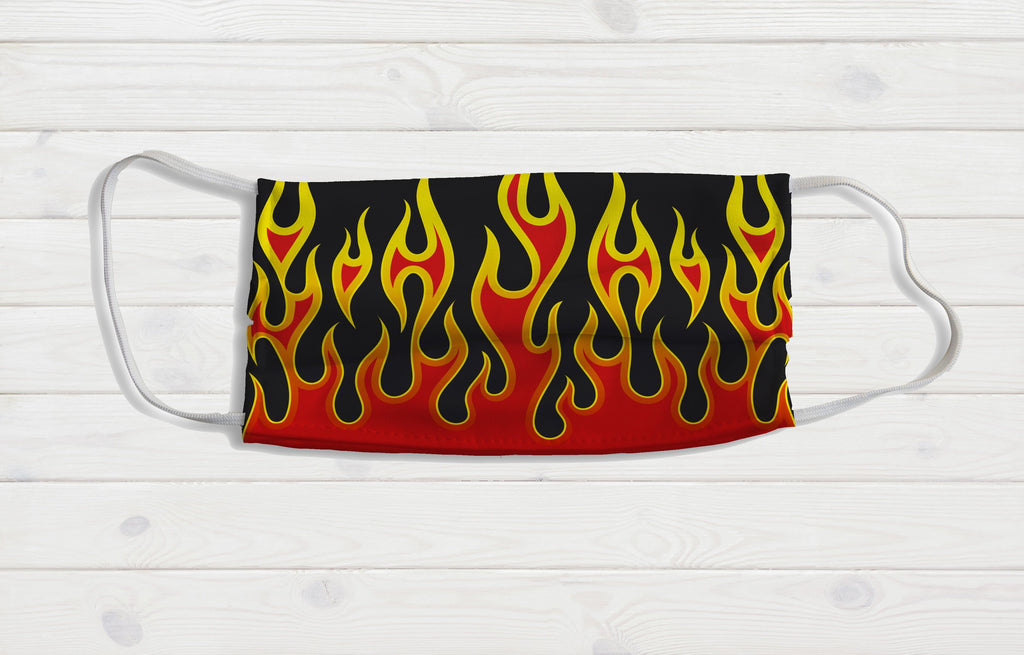 Flames Face Mask - Potter's Printing