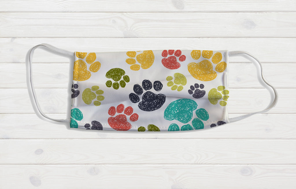 Paw Print Face Mask - Potter's Printing