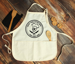 Many Have Eaten Here, Few Have Died Personalized Apron - Potter's Printing