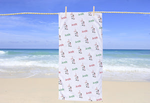 Figure Skating Personalized Beach Towel - Potter's Printing