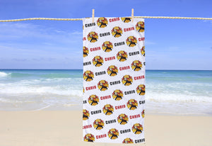 Firefighter Personalized Beach Towel - Potter's Printing