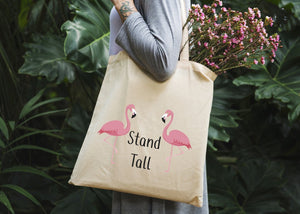 Flamingos Stand Tall Tote Bag - Potter's Printing
