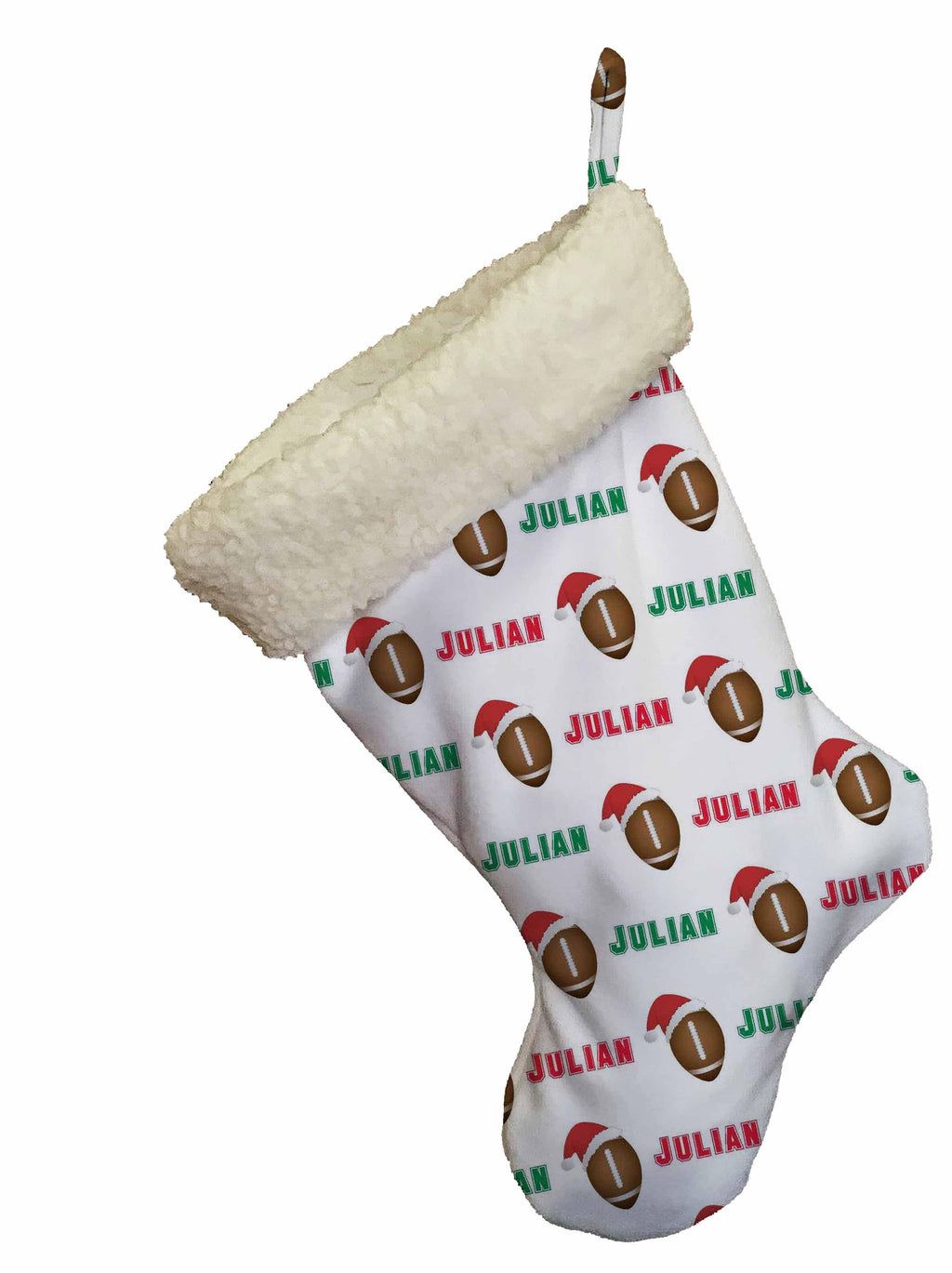 Football Personalized Christmas Stocking - Potter's Printing