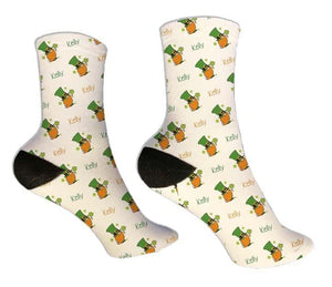 Gnome Personalized St. Patrick's Day Socks - Potter's Printing