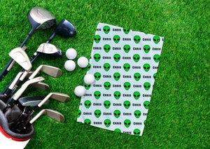 Aliens Personalized Golf Towel