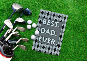 Best Dad Golf Towel