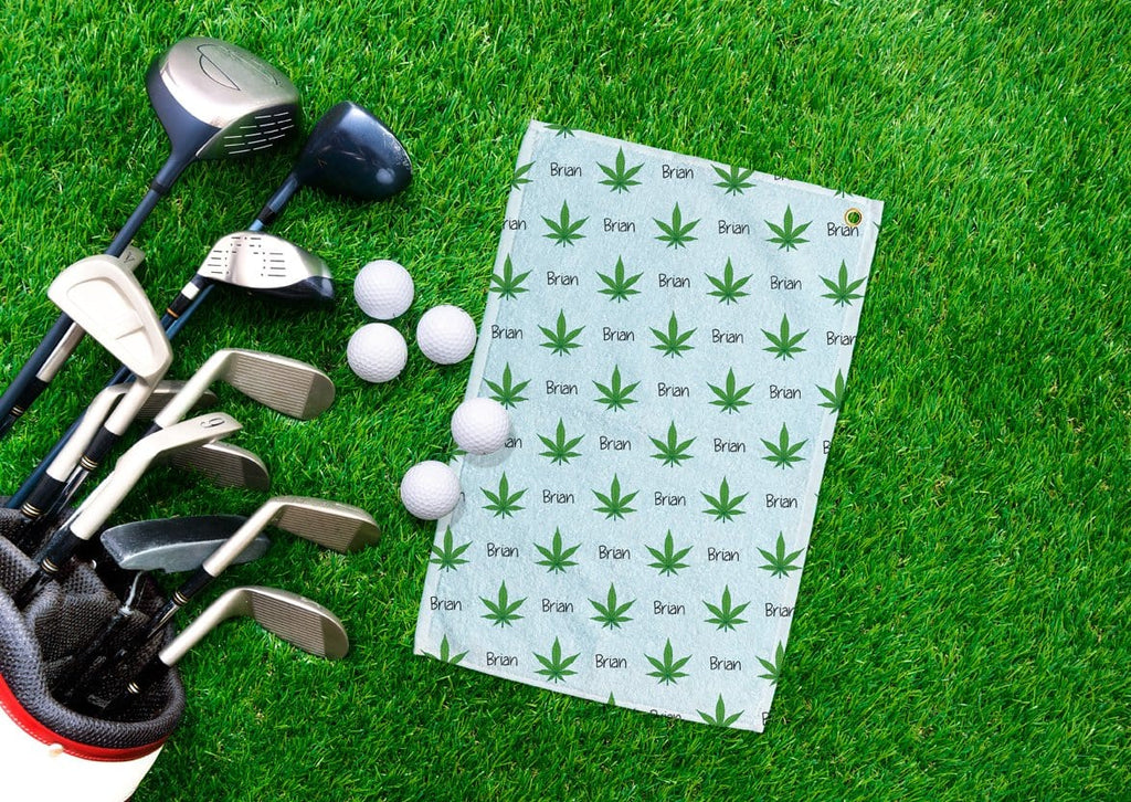 Cannabis Personalized Golf Towel