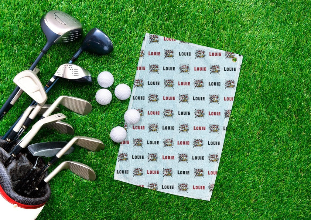 Super Papa Personalized Golf Towel