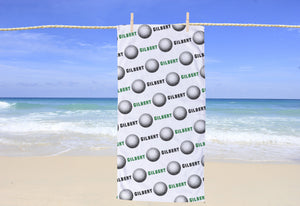 Golf Personalized Beach Towel - Potter's Printing