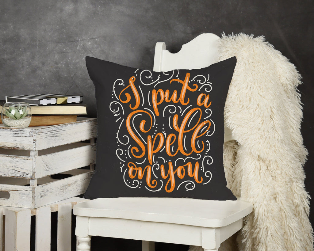 Put A Spell On You Throw Pillow - Potter's Printing