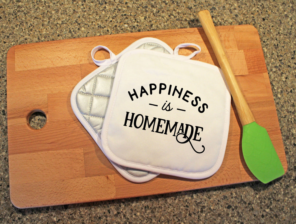 Happiness is Homemade Pot Holder - Potter's Printing