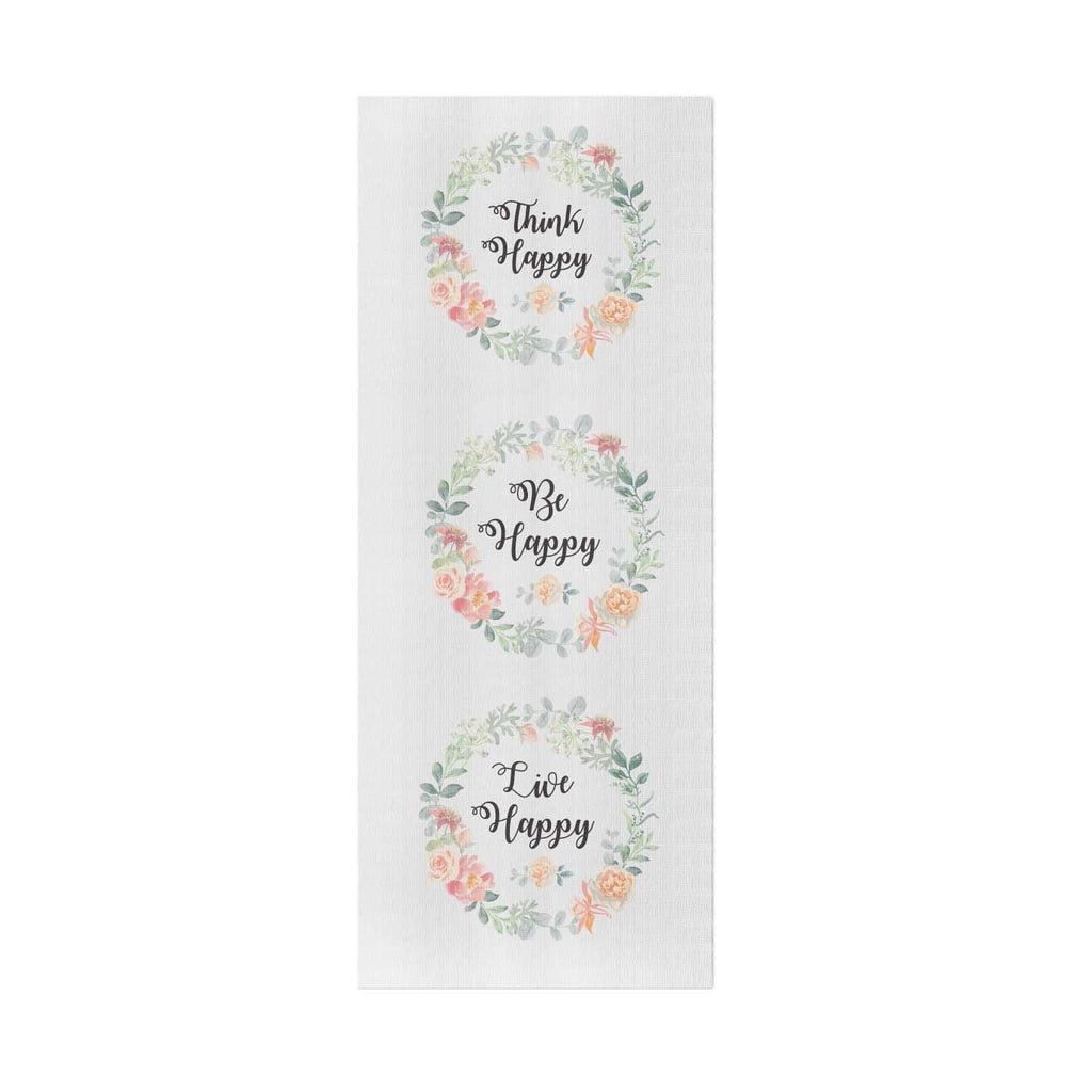 Be Happy Personalized Yoga Mat - Potter's Printing