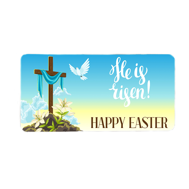 He Is Risen Wreath Sign