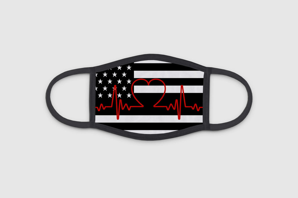 HeartBeat Flag 3 Ply Face Mask