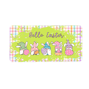 Hello Easter Gnomes Wreath Sign