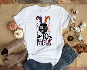 Graphic TEE Hocus Pocus Wine to Focus - Potter's Printing