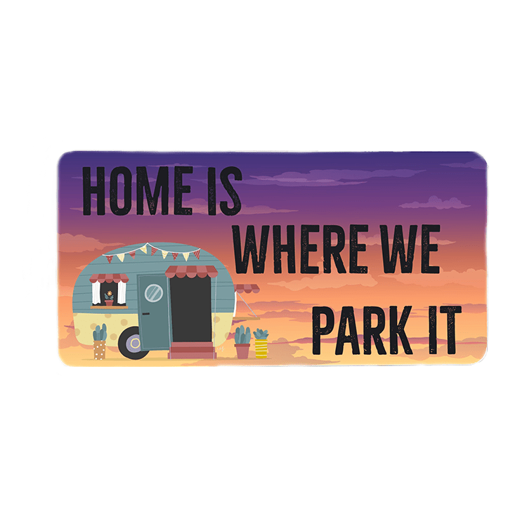 Home is where you Park it  Wreath Sign