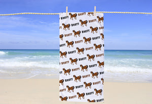Horse Personalized Beach Towel - Potter's Printing