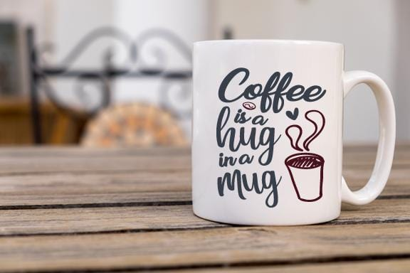 Hug In A Mug Coffee Mug - Potter's Printing