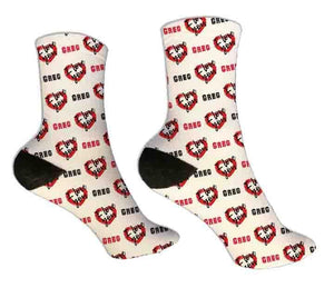 I Love You Personalized Valentine Socks - Potter's Printing