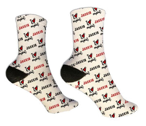 I Love Music Personalized Socks - Potter's Printing